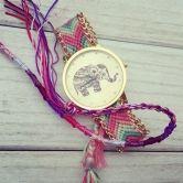 Z4 New Fashion Women Braided Rope Bracelet Wristwatch Relogio Feminino Bohemian Style Quartz Watch Dress Watches
