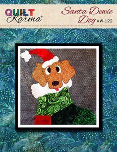 Quilt Pattern - Santa Dewie Dog Applique - Quilt Karma