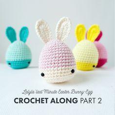 FREE lalylala CROCHET PATTERN Easter Bunny-Eggs #crochet #freepattern #lalylala #amigurumi