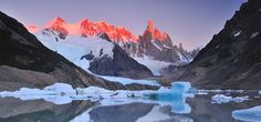 Hike through and experience the mountains, glaciers, icefields, and national parks of Patagonia  (Argentina & Chile)