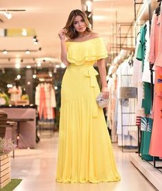 Yellow Prom Dresses ,Evening Gowns Party Dress New Evening Dress on Luulla Evening Dresses, Prom Dresses, Summer Dresses, Dress Prom, Trendy Dresses, Casual Dresses, Casual Outfits, Hijab Fashion, Fashion Dresses