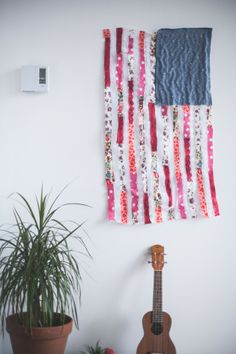 DIY patchwork american flag