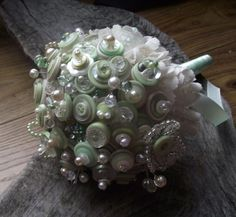 mint bouqet from Bride as a Button