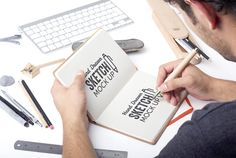 Hand Lettering Technique In Adobe Illustrator : Add Hand-Drawn Effects To Fonts - carshrilly - Adobe Illustrator, Free Design Resources, Web Design, Logo Design, Flyer Design, Design Ideas, Hand Lettering Art, Show Of Hands, Poster Design Inspiration