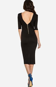 Every woman needs a little black dress...love the zipper in the back.