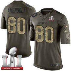c23758c46 Men s Patriots  80 Danny Amendola Black Super Bowl LI 51 Stitched NFL Limited  2016 Salute