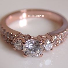 i love this rose gold ring!