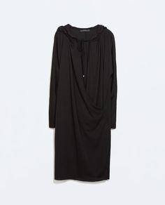 ZARA - WOMAN - HOODED CROSSOVER DRESS