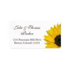 Sunflower Wedding or General Address Labels
