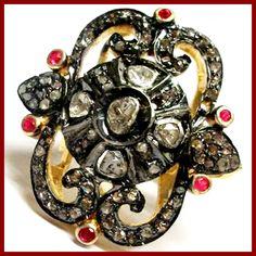 #Rubyring #Diamondring #Vintagering #Victorianring #Silverring #Estatejewellery