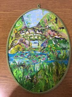 My first Giverny, olio su cartoncino telato!