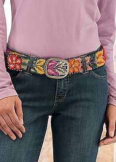 Hand stitched belt for those Friday Jeans days.