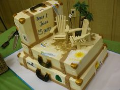 all imbc with fondant and GP accents luggage cakes