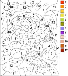 printable color by number for adults color by number thanksgiving coloring page - Thanksgiving Coloring Worksheets