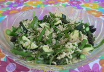 Asparagus, Spinach, Parsley and Rice Salad