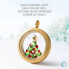 Here's a *fun* Holiday How-To! Recreate this amazing look without damaging your Locket in 4 easy steps!  Step 1: Cut a piece of transparency paper to fit your Locket. These can be found at any office supply store.  Step 2: Adhere clear glue dots to the transparency paper.  Step 3: Arrange your crystals in the shape of a Christmas tree on the glue dots.  Step 4: Place the transparency paper with the crystal arrangement on it into your Locket!   #origamiowl #loveo2 #christmas #christmastree