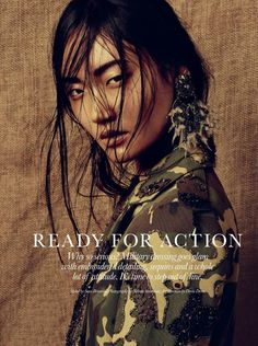 """Ready for Action"" Ashley Foo by Nelson Simoneau for ELLE Canada April 2015"