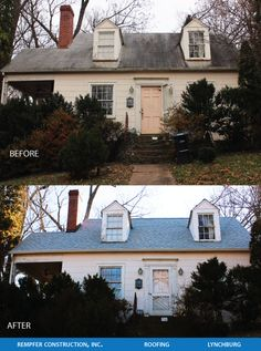 Rempfer Construction, Inc. Roofing Before & After Construction, Mansions, House Styles, Home Decor, Building, Decoration Home, Manor Houses, Room Decor, Villas