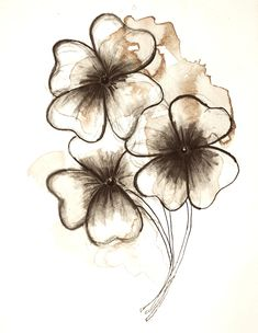 By: Hayley McLean. Ireland Drawing, Pen and Sepia Ink on Watercolor Paper Foot Tattoos, Flower Tattoos, Ink Art, Watercolor Paper, Art Inspo, Art Drawings, Sketches, Drawing Ideas, Illustration