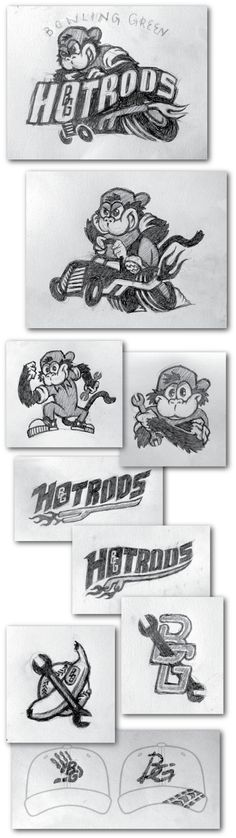 Bowling Green Hotrods - Sketches