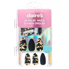 You searched for Camo - BeautyTime Claire's Fake Nails, Fake Nails For Kids, Claire's Nails, Nail Art For Girls, Glue On Nails, Cute Nails, Hair And Nails, Acrylic Nails, Short Fake Nails
