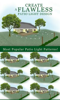 Patio light patterns - How to Plan and Hang Patio Lights