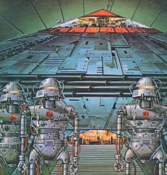 Painting by Eddie Jones from the book The Space Warriors (1980)
