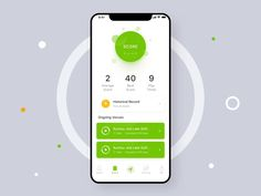 Golf Score Animation by Howard Chen - Design Interaktives Design, App Ui Design, Interface Design, Ui Design Mobile, Mobile Application Design, Design Thinking, Motion Design, Card Ui, Golf Score
