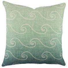 TheWatsonShop Waves Cotton Throw Pillow