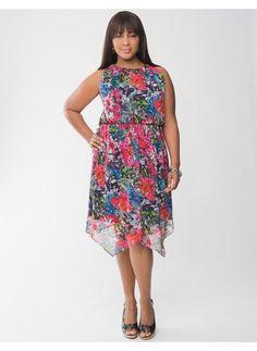 Lane Bryant Asymmetric floral dress - Women's Plus Size - Size 18/20