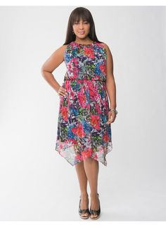 Lane Bryant Asymmetric floral dress - Women's Plus Size - Size 18/20