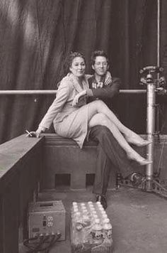 Wes Anderson with Anjelica Huston
