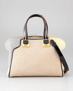 Fendi Chameleon Medium Fabric Satchel Bag