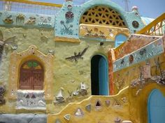 Nubian houses ancient architecture  amazing colorful
