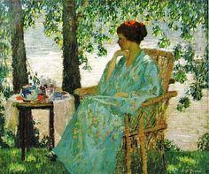 Rae Sloan Bredin (American painter, 1881-1933) Reverie 1915