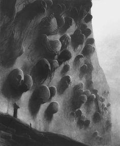 Zdzisław Beksiński untitled 1973, 122 x 98 cm