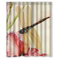 """Beautiful Dragonfly Polyester waterproof Shower Curtain 60"""" x 72"""" in Home, Furniture & DIY, Bath, Shower Curtains 