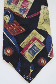 IRS CPA Tax Man Silk Tie Necktie by Courreges Homme - Financial Advisor Banker Accountant Tax Attorney Novelty Tie - Mens Fashions Gift by shopgirls4 on Etsy