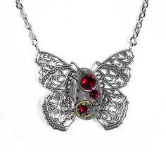 Steampunk Jewelry  Necklace Vintage Watch by SteampunkBoutique, $55.00
