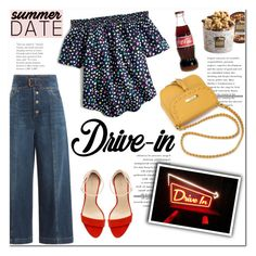 """Summer Date: The Drive-In"" by helenevlacho ❤ liked on Polyvore featuring RED Valentino, J.Crew, Zara, Harry & David, DateNight, contestentry, drivein and summerdate"