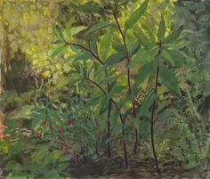 'Summer garden' gouache on paper  20 X 23 cm