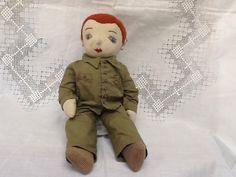 RARE World War 1 or 2 Handmade Cloth Doll Crochet Under Garments   eBay