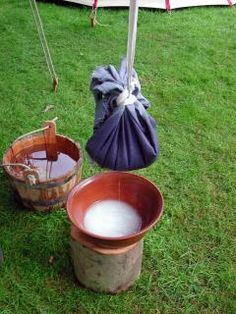 Medieval cheese making
