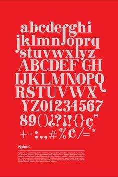 Spinto Typeface. by Marcela Garza Garza, via Behance
