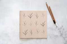Large Notebook Handmade Print Screen Journal with a by Hamutelet, $15.00