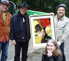 """The latest edition of Germany's Soundcheck Award, where the actual award is an original poster designed by Otto Steininger, went to Neil Young for his album """"Psychedelic Pill""""."""