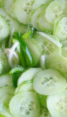 Lauren's Grandma's recipe for quick pickled cucs