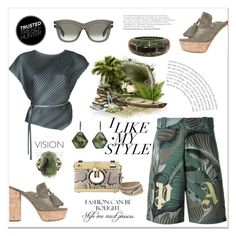 """""""Trusted trend hunter"""" by zabead ❤ liked on Polyvore featuring Palm Angels, Casadei, Pleats Please by Issey Miyake, Dolce&Gabbana, CÉLINE, H&M, Chanel, Monique Péan, safari and MyStyle"""