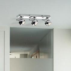 DESCUENTOS - OFERTAS - OUTLET Lámpara foco cromo 3 luces moderno interior. #iluminación #decoración
