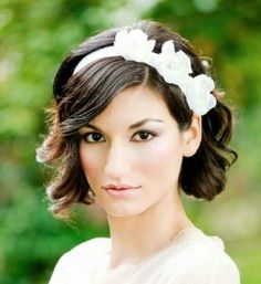 Flower girl hairstyle option Headband with hair down and curled